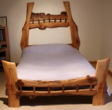 Stitched Four Poster Bed front