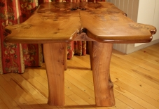 'Cere' Burr Elm Dining Table front