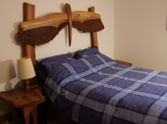 Winged Burr Elm Bed Side close