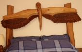 Winged Burr Elm Bed Headboard
