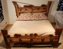 'Needle and thread' Burr Elm Bed