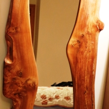 Full Length Burr Elm Mirror middle