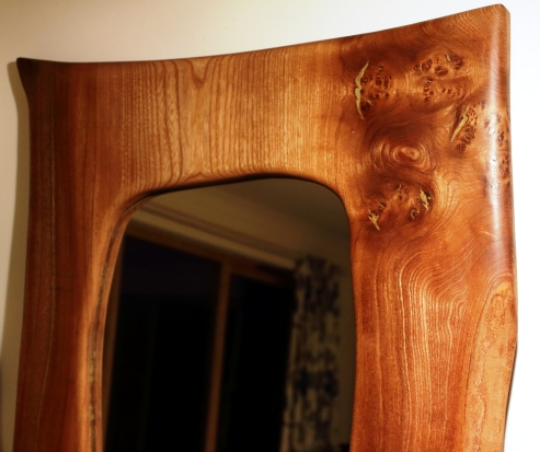 Full Length Burr Elm Mirror Top
