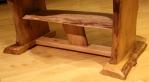 Maple leaf table with shelf - shelf