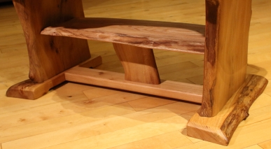 Maple leaf table with shelf - shelf
