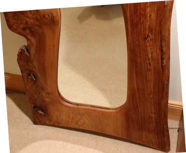 Full Length Burr Elm Mirror bottom