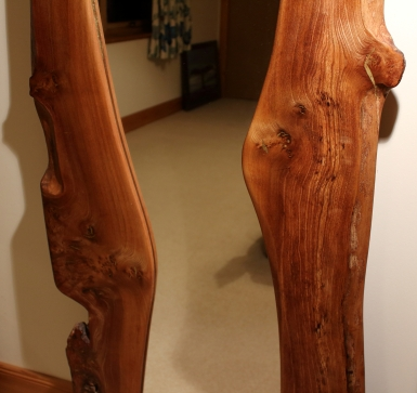 Full Length Burr Elm Mirror shape