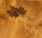Maple leaf table with shelf - inlaid leaf