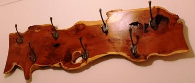 Large Yew Coat Hanger with Hooks