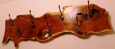 Large Yew Coat Hanger with Hooks