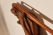 'Needle and thread' Burr Elm Bed needle eye