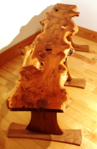 Axe Legged Yew Bench