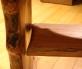 Maple leaf table with shelf - floating shelf left