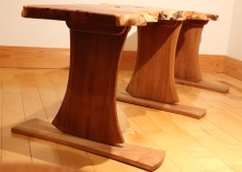 Axe Legged Yew Bench leg