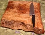 Live Edge Burr Elm Chopping/display board