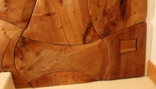 Burr Elm Axe cladding close